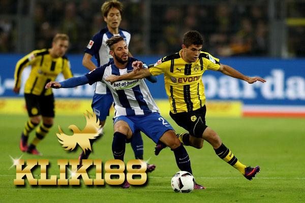 Laporan Pertandingan Sepakbola Hertha BSC VS Borussia Dortmund